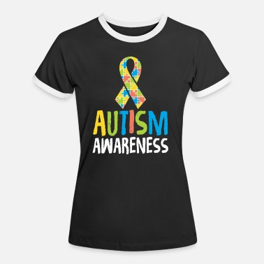 Autism Month Cute Autism Awareness for Autism Awareness - Women's Ringer T-Shirt