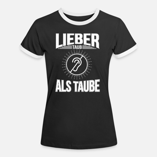 Disabled T-Shirts - Deaf - Women's Ringer T-Shirt black/white