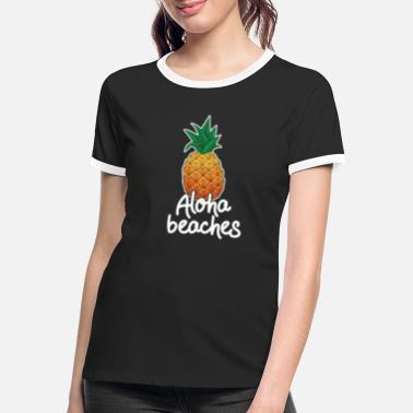 Funny Hawaii Vacation Aloha Strande Ananas Gave - Kontrast T-shirt dame