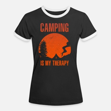 To Camp Camping Camping - Women's Ringer T-Shirt