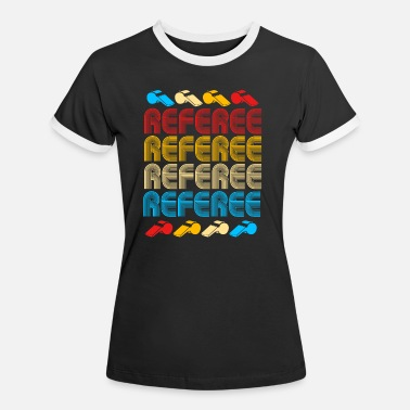 Voetbalclub Referee Referee Yellow Red Card Costume Ball - Vrouwen ringer T-Shirt