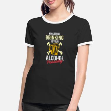 Flatrate Rolig öldesign för Hard Guys Drinkers Party - Kontrast T-shirt dam