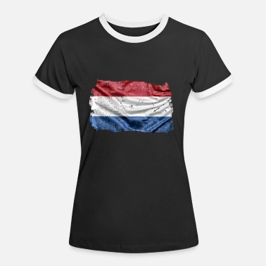 Holland flag a great gift for NL fans - Women's Ringer T-Shirt
