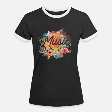 Clef Clef music - Women's Ringer T-Shirt