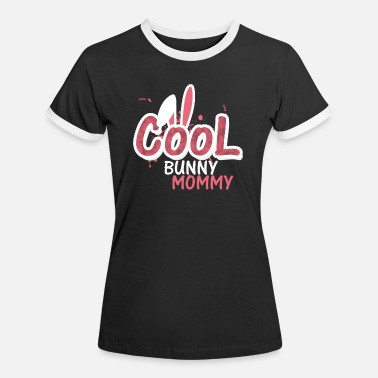 Cool Bunny Mommy Mothers Day - Kontrast T-shirt dame