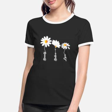 Marguerite Marguerite shirt women and t-shirt women with flowers - Women's Ringer T-Shirt