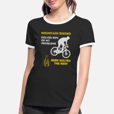 Mountain Biking t-shirts design bier liefhebbers - Vrouwen ringer T-Shirt