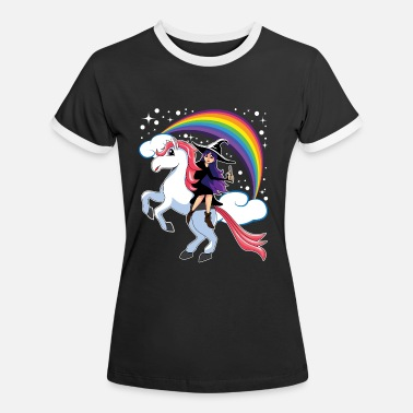 unicorn witch - Frauen Ringer T-Shirt