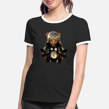 Bikes And Cars Collection Fox Biker - Frauen Ringer T-Shirt