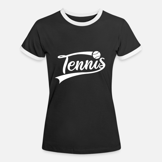 Tennis Magliette - Tennis Logo Tennis Player Club Partita di tennis - Maglietta contrast donna nero/bianco