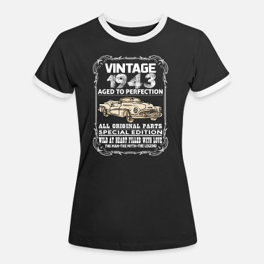1943 VINTAGE 1943-AGED TO PERFECTION - Women's Ringer T-Shirt