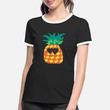 Colour Pineapple / sayings / trend - Women's Ringer T-Shirt