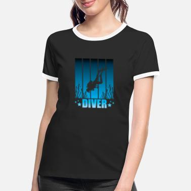 Dive Diving Diving Diving - Women's Ringer T-Shirt