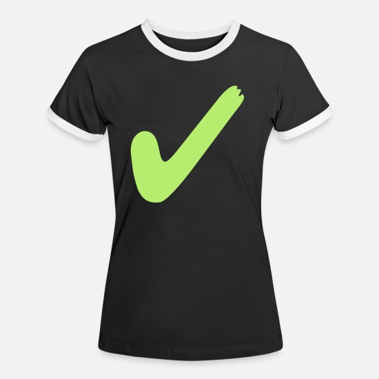 Ja T-Shirts - right - Women's Ringer T-Shirt black/white