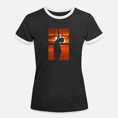 Gallows Hang Man - Hanged at sunset - Women's Ringer T-Shirt