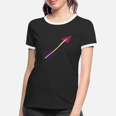 Stag Underwear Symbol - Shooting Arrow - Women's Ringer T-Shirt