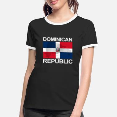 Dominikanische Republik Dominikanische Republik Flagge DomRep - Frauen Ringer T-Shirt