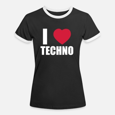 I Love Techno I LOVE TECHNO 2 - Maglietta contrast donna