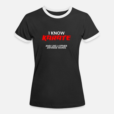 Karate - Frauen Ringer T-Shirt