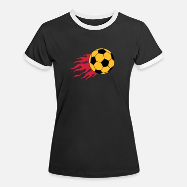 Striker burning ball - Women's Ringer T-Shirt