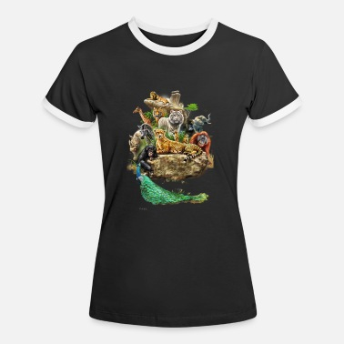 Zoo Animal Zoo animals animals design - Women's Ringer T-Shirt