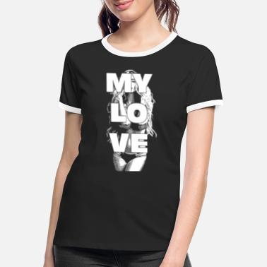 Glamour MY LOVE sexy blond girl 2reborn wh - Women's Ringer T-Shirt