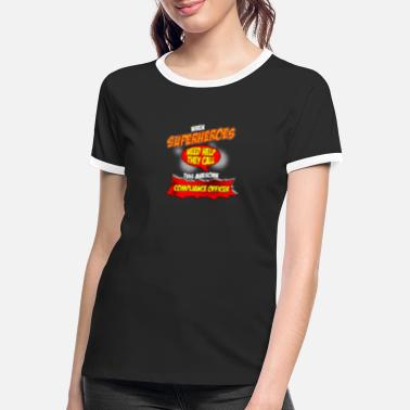Officer Superhero gift funny profession Compliance Officer - Women's Ringer T-Shirt
