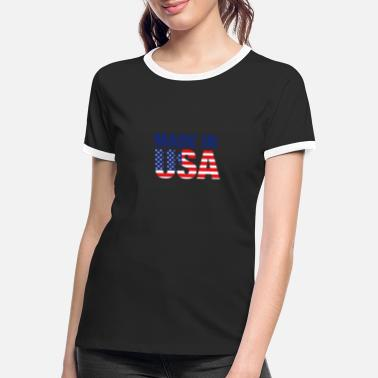 Made In Usa Made in USA - Frauen Ringer T-Shirt