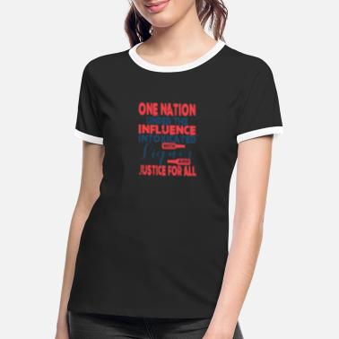 Under The Influence One nation under the influence intoxicates - Frauen Ringer T-Shirt