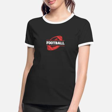 Quarterback Inscription de football américain - T-shirt contrasté Femme