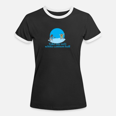Snowballs Children Snowball Sledding Snow Snowballing - Women's Ringer T-Shirt