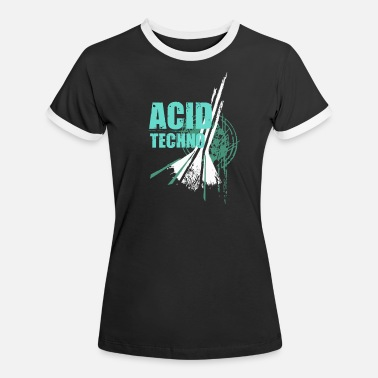 Wear We love Acid Techno music Party Outfit Club Motiv - Frauen Ringer T-Shirt