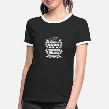 Freelance profesional independiente - Camiseta contraste mujer