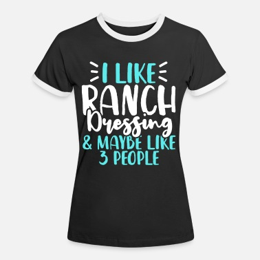 Ranch Ranch dressing - Kontrast T-shirt dame