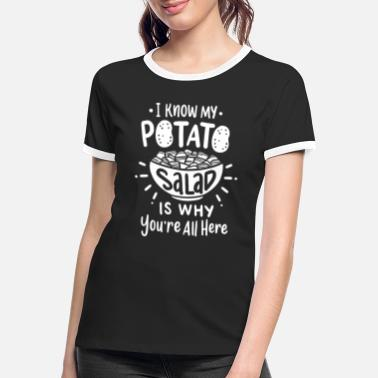 Salad Grilling Potato Salad Barbecue Grill Party - Women's Ringer T-Shirt