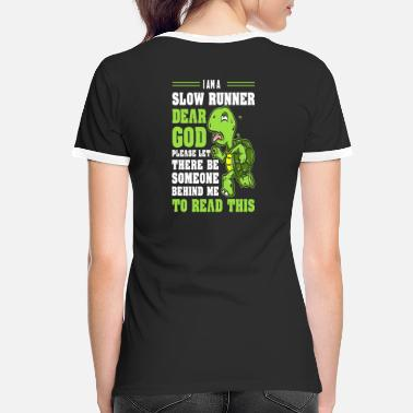 Slow Slow runner turtle running run gift - Women's Ringer T-Shirt