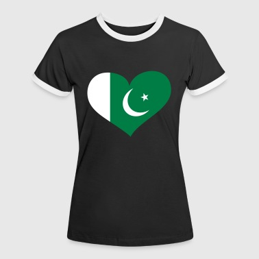 Pakistan Herz; Heart Pakistan - Women's Ringer T-Shirt