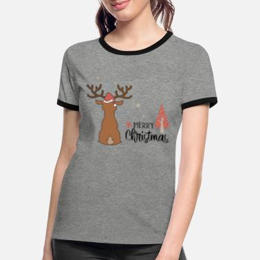 Shopping Merry Christmas Greetings with love - Frauen Ringer T-Shirt