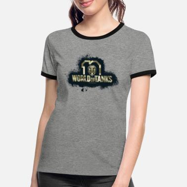 Logo Camo 10e anniversaire de World of Tanks - T-shirt contrasté Femme
