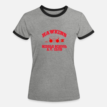 80er Hawkins Middle School - Frauen Ringer T-Shirt