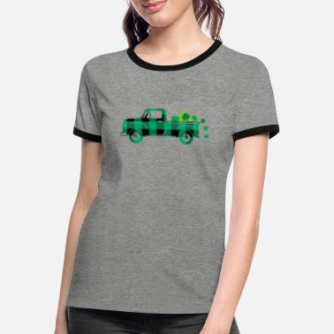 LUCK OF THE IRISH TRUCK St Patrick's Day Pickup - Women's Ringer T-Shirt