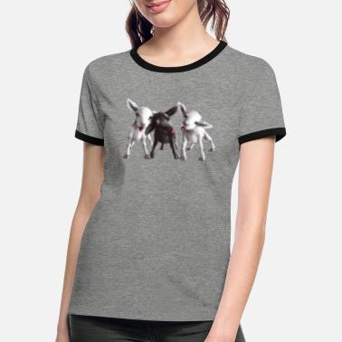 Easter cheeky sheep - Women's Ringer T-Shirt