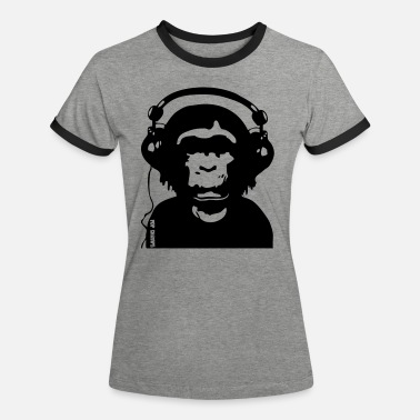 Music by POP CHIMPS - Frauen Ringer T-Shirt