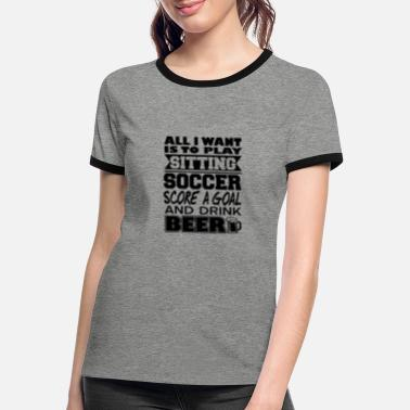 Seat Seated football - Women's Ringer T-Shirt