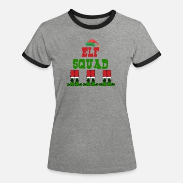 Weihnachtstshirt Elf Squad Christmas - Women's Ringer T-Shirt