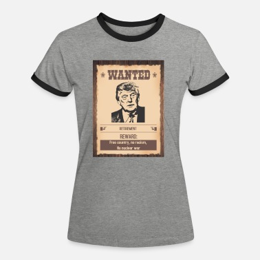 Wanted Donald Trump Wanted - Kontrast T-shirt dam