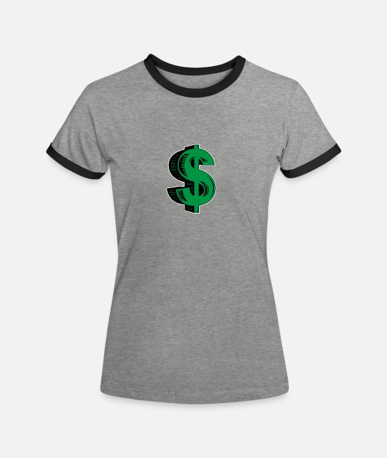 Washington T-Shirts - dollar - Women's Ringer T-Shirt heather grey/black
