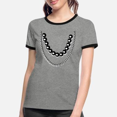 Ketting Chique ketting - Vrouwen ringer T-Shirt