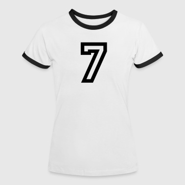 number - 7 - seven - Women's Ringer T-Shirt