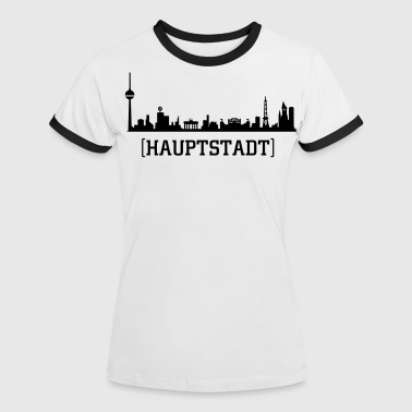 BERLIN SKYLINE - Frauen Kontrast-T-Shirt